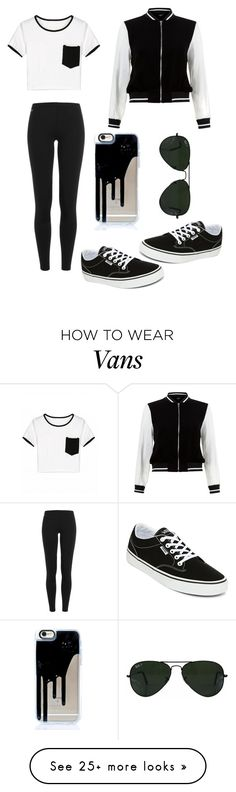 """""""I'm back"""" by fablife101 on Polyvore featuring Polo Ralph Lauren, Vans, New Look and Ray-Ban"""