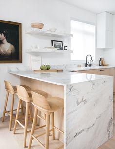 Modern Kitchen Design Trending: Blonde Wood and Mixed Woods Kitchen Room Design, Modern Kitchen Design, Home Decor Kitchen, Rustic Kitchen, Interior Design Kitchen, Kitchen Ideas, Kitchen Designs, Diy Kitchen, Kitchen Hacks