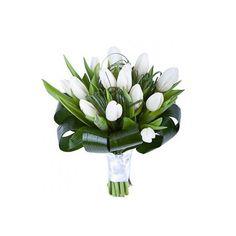 Comanda online de la Floraria Florisis un buchet realizat din 13 lalele albe cu livrare gratuita in Huedin ori Cluj Napoca. Flori ieftine de la Florisis