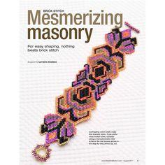 """Mesmerizing Masonry"" Beaded Bracelet Pattern by Lorraine Hickton Coetzee aka TrinityDJ at Bead-Patterns.com"