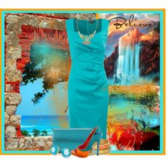 """Turquoise and Orange"" by jackie22 on Polyvore"