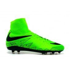 new arrival 932f4 eb12e Oferta Nike Hypervenom 2 Bota de Fútbol FG Verde Negro Zapatillas de fútbol  baratas Futbol,
