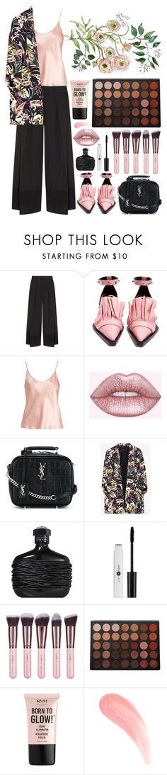 """Culottes and flowers"" by jooseefiinee ❤ liked on Polyvore featuring Emporio Armani, Marques'Almeida, La Perla, Lime Crime, Yves Saint Laurent, John Varvatos, Luxie, Morphe and NYX"