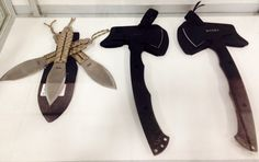 SOG throwing knives and CRKT T-hawks. #sog #knives #crkt