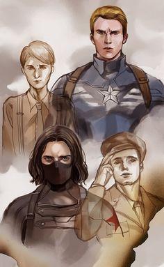Captain America (MCU) - Steve Rogers x Bucky Barnes - Stucky Marvel Anime, Marvel Dc Comics, Marvel Heroes, Bucky Barnes, Break My Heart, Spiderman, Captain America And Bucky, Bucky And Steve, Mundo Comic