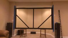 DIY Projector Screen:with step by step instructions. - Home theater - Best Home Theater, Home Theater Setup, Home Theater Rooms, Home Theater Seating, Home Theater Design, Theatre, Movie Projector Screen, Decorating Your Home, Diy Home Decor