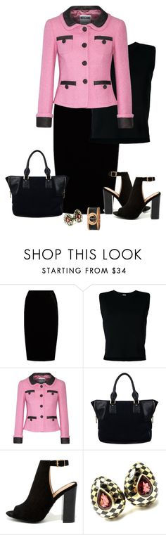 """Black Suede Shoes and Purse 3"" by gigisstyle ❤ liked on Polyvore featuring Jupe By Jackie, Rito, Moschino, Bamboo, Angela Cummings and Gucci"