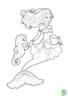 Printable Barbie Mermaid Coloring Pages For Kids Bratz