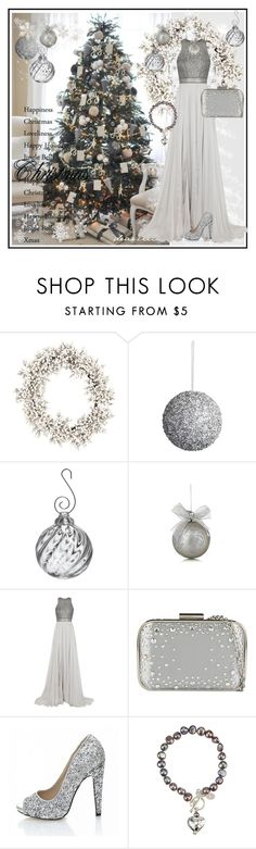 """""""Oh Christmas Tree!"""" by pmcdl ❤ liked on Polyvore featuring Pier 1 Imports, Simon Pearce, Catherine Deane, ALDO, Quiz, Claudia Bradby, Sian Bostwick Jewellery, Silver, gown and highheels"""