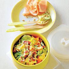 Apfel-Paprika-Salat mit Räucherpute
