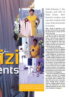 Faith Kelejaiye is the owner of Deizi Events With, a UK based event planning and management agency. African Women, Best Hotels, Business Women, Event Planning, Black Women, Management, Faith, How To Plan, Fashion