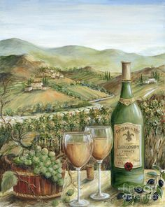 Любители живописи вино - белое вино Данлэп Мэрилин