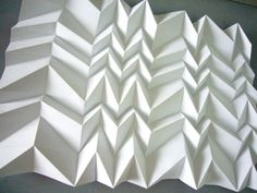 zigzag accordion fold disrupted