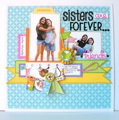 "Doodlebug Design Inc Blog - love this for ""Sister's in Christ are forever <3"