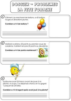 Fiches recherches de Math 3P – 4P 2nd Grade Math, Grade 2, Problem Solving, Teaching, Activities, Maths, Jasmine, Montessori, Mini