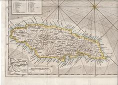 Jamaica Map 1763 and List of Property Owners - shows the Seniors in Westmoreland and the Williams family in St. Ann.