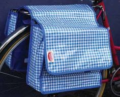 gingham panniers
