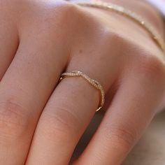 14K Yellow Gold The Dainty Diamond Twist Eternity Ring