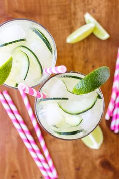 Festive green cocktail | cucumber lime punch.