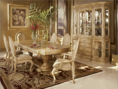 Classic Dining Room Designs from Aico Furniture. Check out our china cabinets. http://naderslp.com/lisachinacabinet.aspx