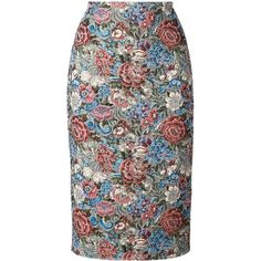 Ermanno Scervino floral jacquard pencil skirt (36.500 RUB) ❤ liked on Polyvore featuring skirts, floral printed skirt, floral pencil skirt, floral-print pencil skirts, ermanno scervino and multicolor skirt