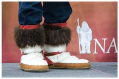 Alaskan Native Mukluks with Nana corporate logo
