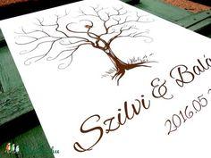 Esküvői ujjlenyomat fa kép feszített vásznon, A2, Esküvői fa, szerelmes madár pár, Emlék, Esküvői dekor, Esküvő, Dekoráció, Esküvői dekoráció, Nászajándék, Meska