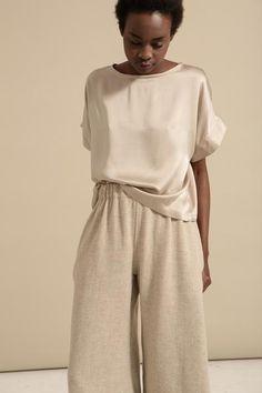 Oatmeal Wool Pant