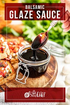 Balsamic glaze requires only 2 ingredients and 15 minutes to make the most flavorful sauce to go on your favorite salads, chicken, vegetables, and more! You're definitely going to want to give this recipe a try. Balsamic Glaze, Balsamic Vinegar, Vegan Gluten Free, Vegan Vegetarian, 2 Ingredients, Brown Sugar, Cooking Tips, Spicy, Good Food