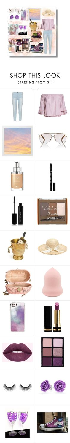"""""""girl trip:pick some grapes and drink some wines together"""" by winggie ❤ liked on Polyvore featuring Lucky Brand, Victoria Beckham, Christian Dior, Marc Jacobs, Bourjois, Chanel, Casetify, Gucci, Viseart and Velour Lashes"""