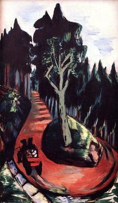 'Forest Path in the Black Forest' (1936) by German artist Max Beckmann (1884-1950). via ArtStack