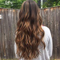 11 Long Hair Caramel Highlights