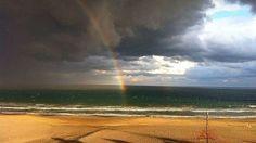 Arco Iris despues del granizo en Playa de San Juan, Alicante, España