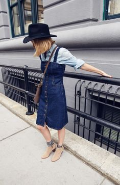 197b148e342 Hat Brat  9 Wide Brim Hats that Will Get You Excited for Fall. Denim  PinaforePinafore DressDouble ...