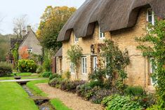 Photo about Narrow lane in vilalge of Minster Lovell in Cotswolds with stone cottages. Image of dramatic, architecture, english - 27760190 Hillside Village, English Village, English Cottages, Country Cottages, Cotswold Villages, England Countryside, Thatched House, Castles In England, Stone Cottages