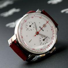 1940's DOXA  Swiss  Gents Chronograph Watch 17j Landeron Cal. 48 Mint Condition