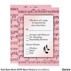 Pink Sheet Music RSV