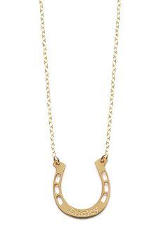 Lucky Horseshoe Pendant Necklace