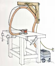 DIY Workshop Boom Arm - Dust Collection Tips, Jigs and Fixtures | WoodArchivist.com