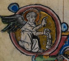 Detail from medieval manuscript, British Library Stowe MS 17 'The Maastricht Hours', f107v