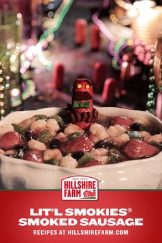 Misread the invite, it said wear beads … he wore beans. Make Things A Little More Interesting with this Lit'l Smokies® Smoked Sausage soup recipe. And don't worry, this guy will keep his bow tie on.