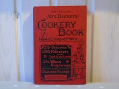 1894 Mrs Beeton's Cookery Book and Household Guide - Ward Lock & Co. - New and Enlarged - Coloured Plates - Illustrated Antique Cookery Book by Butterbeas on Etsy