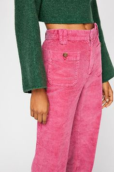 4df32e2f17 Free People: Hip-Hugging Flare Cord Trousers Cord Trousers, Cords Pants,  Trousers