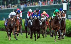 The magic of jockey Mike Smith turned newly minted maiden winner Arklow into a graded stakes winner May 6, 2017 in the American Turf Stakes presented by Ram Trucks (G2T) at Churchill Downs.