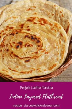 Lachha paratha recipe - a popular layered paratha recipe from north Indian often also known as lachedar paratha or paratwala paratha. This crispy multi layered Punjabi lachha paratha is made from whol Indian Food Recipes, Vegetarian Recipes, Cooking Recipes, Healthy Recipes, Brunch Casserole, Casserole Recipes, Paratha Bread, Brunch Recipes, Breakfast Recipes