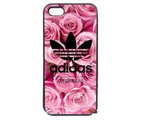 iPhone case adidas flowers pink
