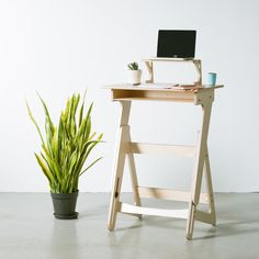 New wooden standing desk is Scandinavian-inspired and totally cute - Curbedclockmenumore-arrow : It's also 100% U.S.-manufactured and eco-friendly
