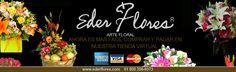Ahora pagar en Eder FLores Arte Floral Es mas facil!! Comprando en Nuestro sitio web, puedes pagar con cualquier tarjeta de Crédito o Débito, ademas de depositos bancarios, transferencia, pagar en Oxxo y 7-Eleven.