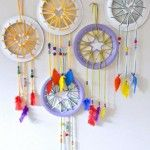 Paper Plate Crafts – Dream Catchers with Hearts