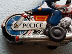 RARE vintage 50-60s Tin Haji Police P.D. Motorcycle plastic head Japan FRICTION | eBay